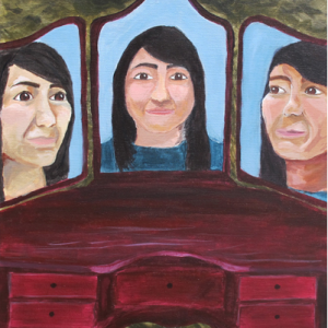Self-Portrait, Girl in 3 Mirrors