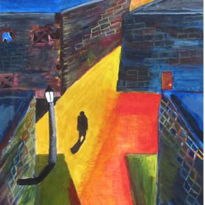 Self-Portrait, Person walking in street