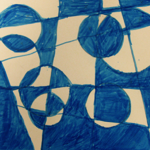 Blue & White Circles