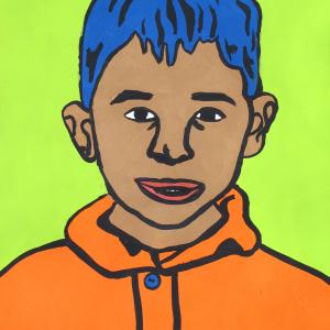Blue-Hair Portrait