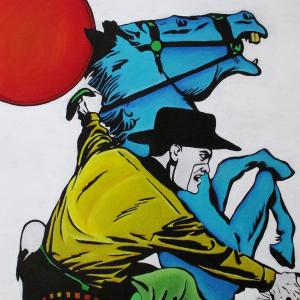 Masked Ranger on Blue Horse